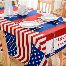 New Hot Sale National Flag Pattern Table Cloth Home Party Coffee Table Cloth Hotel Restaurant Tablecloths Waterproof Table Cover