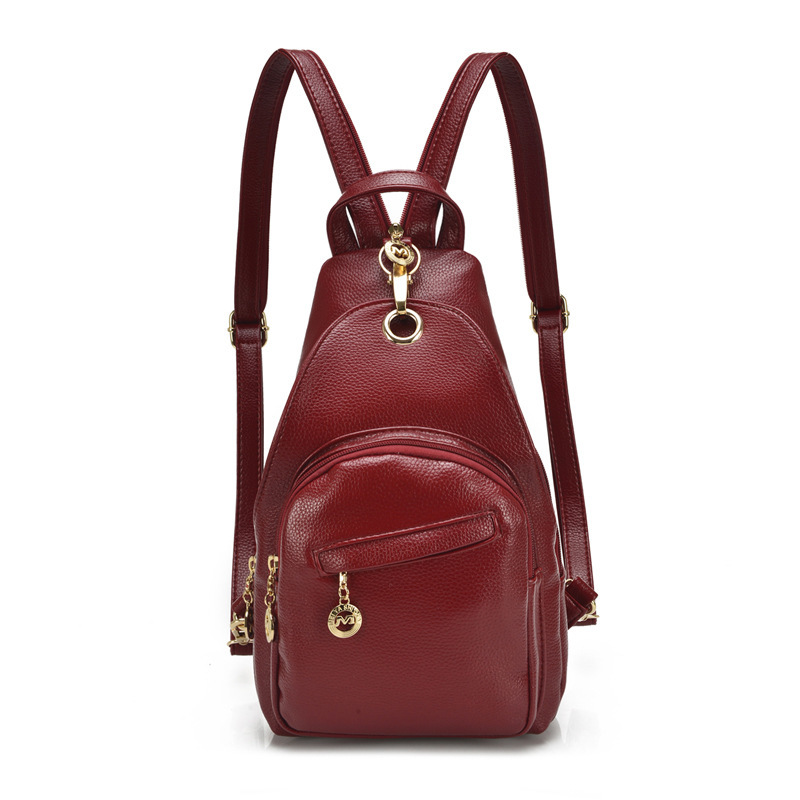 BackPack Rucksack SchoolBag For Women For Lady Designer Trendy School Bag Free Shipping PU Leather Simple Teenage Crossover<br>