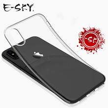 E-SKY Ultra Thin Soft TPU Phone Cases For iPhone6/6s/7/8 plus Transparent Silicone Casefor iPhoneX Cover Case Caqa(China)