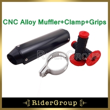Alloy Black 38mm Exhaust Muffler Handle Grips Pit Dirt Bike 125cc 140cc 150cc 160cc CRF50 Thumpstar SSR Chinese
