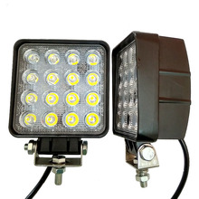 2pcs 4 Inch 48W LED Work Light for Indicators Motorcycle Driving Offroad Boat Car Tractor Truck 4x4 SUV ATV Flood 12V 24V