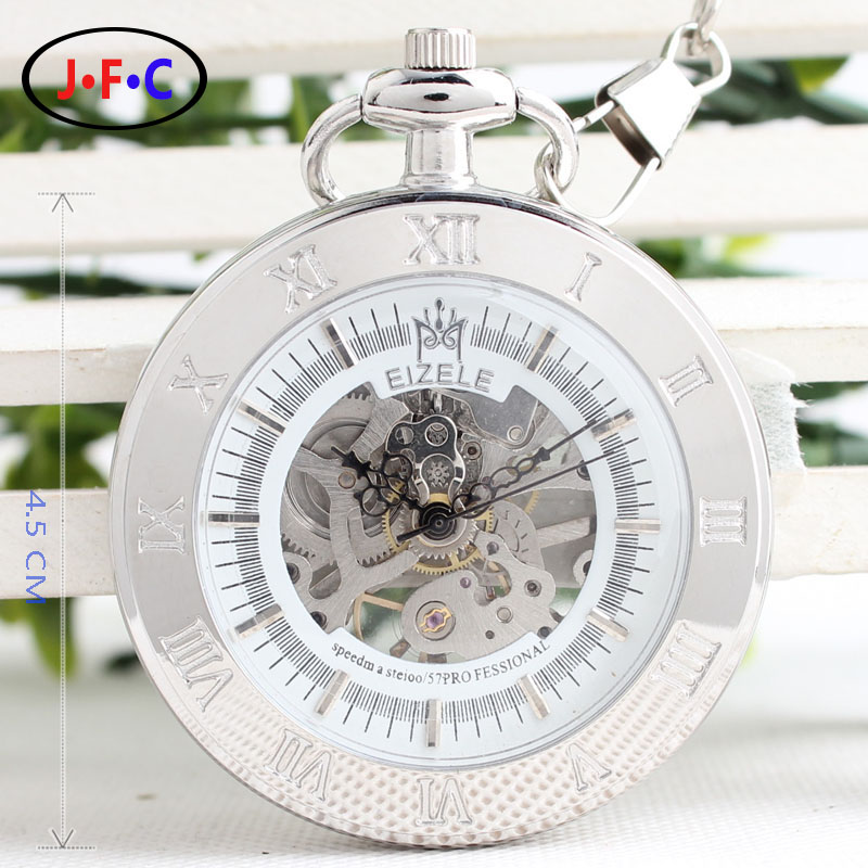 Rome silvery no cover mechanical watch two scales of male and female friends watch British style B041<br><br>Aliexpress
