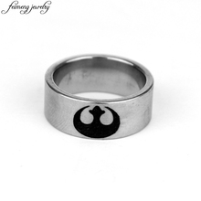 Classic Movie Star Wars Ring Charm Silver Rebel Alliance Symbol Stainless Steel Ring Men's Fashion Jewelry Accessories