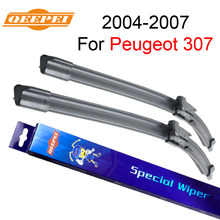 QEEPEI Wiper Blades For Peugeot 307 2004-2007 28''+26''R Wipers Car Accessories Auto Rubber Windscreen Windshield CPB115-3(China)