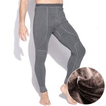 Hot Winter Men's Warm Thermal Underwear Mens Long Johns Thermal Underwear Plus thicker Cashmere Long Johns Pants(China)
