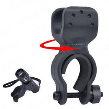 Universal Bike Flashlight LED Torch Mount Clip 360 Degree Rotation Cycling Clip Clamp Bicycle Light Holder
