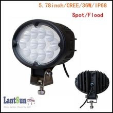 LED8362-OVAL one piece 2400lm IP68 waterproof 5.78inch 36w oval led work light for truck, tractor, suv ATV, 4X4, offroad auto