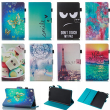 Fashion Butterfly Pattern PU Leather Flip Cover Case For Amazon Kindle Fire HD 8 HD8 2016 8'' inch Tablet Shell Protector Funda