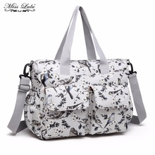 Buy 1 Get 1 at 50% Off Miss Lulu 3pcs Bird Flower Baby Changing Bag Set Diaper Nappy Bag Large Mummy Shoulder Handbag Tote E6603(China)