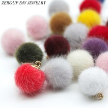 Buy Imitation Wool Ball Stuff Goods Eardrop Pendant Charms Earrings Accessories Supplies Jewelry Finding Diy Material 12pcs for $2.84 in AliExpress store