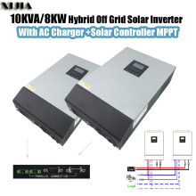10KVA 8000W Hybrid Pure Sine Wave Inverter with AC Charger+Solar Controller MPPT Parallel 2*SP-5KVA