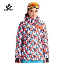 Tectop outdoor MenWomen ski suit windproof thermal ball ski suit Skiing Jacket