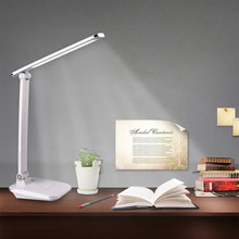 Portable Adjustable Desk Lamps Rechargeable 48 LED Lamp Beads Table Lamp Foldable White Temperature Changeable With Touch Dimmer(China)