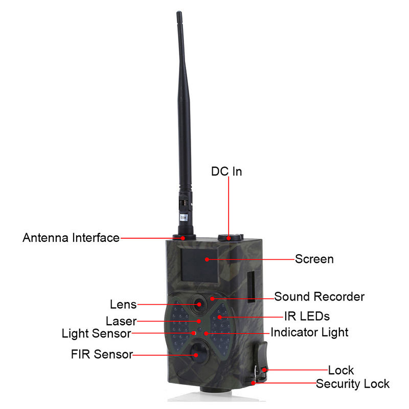 Trail Hunting Camera MMS HC-300M 12MP 1080P Wireless Hunting Traps Photo Video Digital Infrared Hunter Cam home surveillance cam (122)