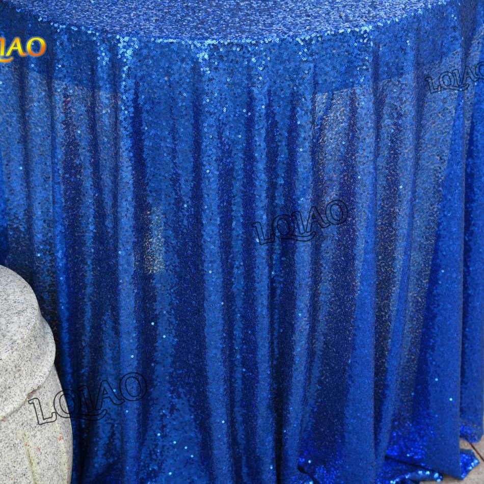 royal blue sequin tablecloth-35