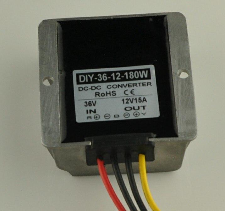 Converter 36V(24V-48V) Step Down 12V 15A 180W DC-DC Converter Module DC Buck Converter Power  Adapter Voltage Regulator<br>