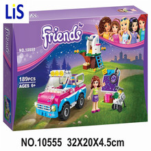 Lis BELA 10555 Girl Friends Olivias Expeditions Auto Car Toys DIY Building Brick Toys Girls Gift Compatible Lepin 41116