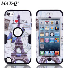 Case For Apple ipod touch 5 5th Generation Cover Beautiful tower Painting PC Silicone Hybrid Phone Back Cover Case phone Bags