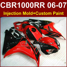 100% Fit red black bodykit CBR1000 RR 06 07 for HONDA 2006 2007 CBR1000RR fairings cbr1000 rr 06 07 custom fairing