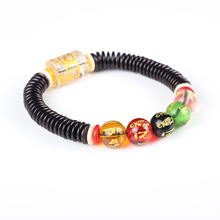 Natural Coconut shell septa Color Mantra Sanskrit Beaded Bracelet Men Charm Women Jewelry Zen Buddha Universe Accessories(China)