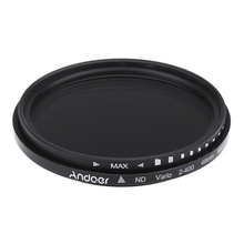 Andoer 49mm ND Fader Neutral Density Adjustable ND2 to ND400 Variable Filter for Canon Nikon DSLR Camera