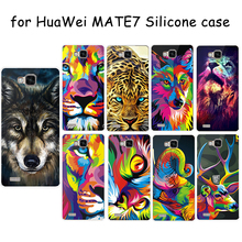 For HuaWei MATE 7 Ultra Thin Silicone Protective Print Soft TPU Tiger Lion Pie Leopard Owl Elephant Colored Animals Cover Case