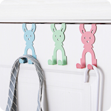 1pc Iron Cartoon Door Back Storage Rack Coat Racks Bag Pendant Creative Clothes Holder Kitchen Holder