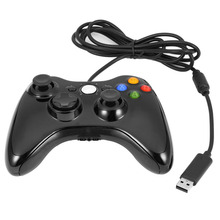 SOROPIN USB Wired Joypad Vibration Gamepad For Xbox 360 Game Joystick Console Controller With Real Shock For Windows 7/8/10/XP(China)