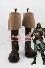 Assassins Creed 4:Black Flag Connor Kenway Ratohnhake:ton cosplay Shoes Boots Custom-Made