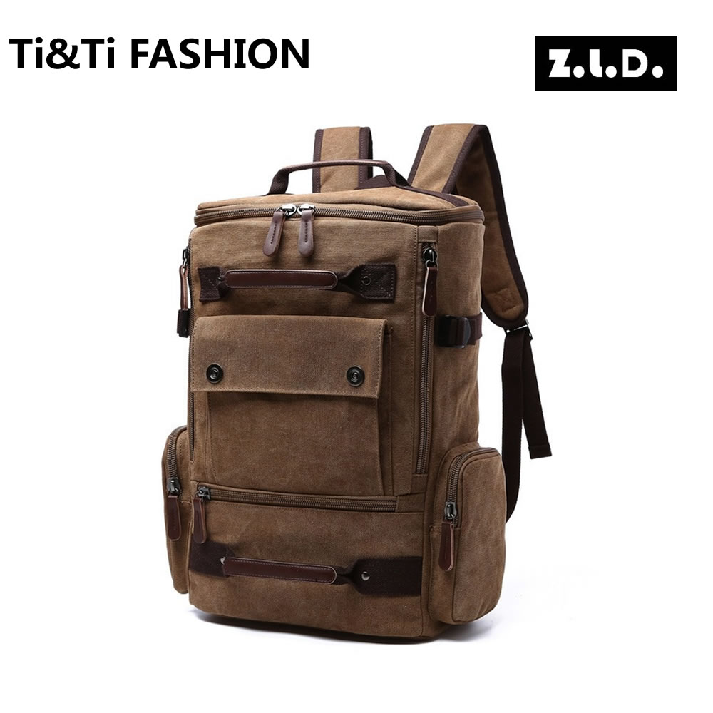 Z.L.D Originals 2017 High Quality Canvas Neutral Backpack Solid Color Large Capacity Leisure Multipurpose Travel Backpacks<br><br>Aliexpress