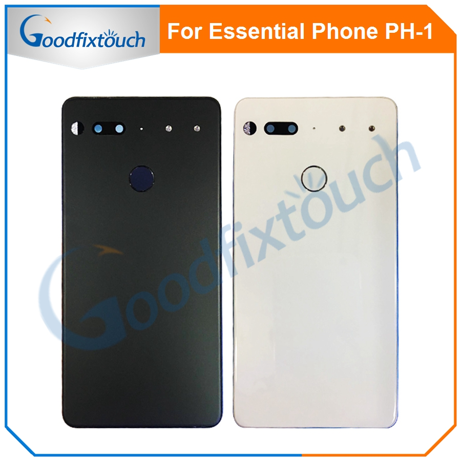 For Essential Phone Ph-1 PH 1 Rear Back Battery Cover Door Ceramics Glass Housing With Fingerprint Camera Glass Raplacement Part (9)