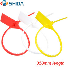 50pcs 350mm Length Tags Plastic Nylon Cable Ties Tightener Seals Security Wire Padlock Cable Ties for Cargo Container Seal Lock