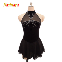 Customized Costume Ice Skating Figure Skating Dress Gymnastics Adult Girl Show Skirt Performance Competition polyamide shiny(China)