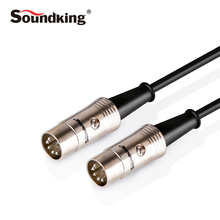 Soundking MIDI Audio Cable 5to 5 Pin MIDI Extension Cable Male to Male 1.5m 3m 6m for Guitar/Piano Musical Instrument B20