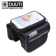 DUUTI Cycling Mountain Road Bike Bag Bicycle Frame Tube Panniers Waterproof Touchscreen Phone Case Reflective High Capacity Bag(China)