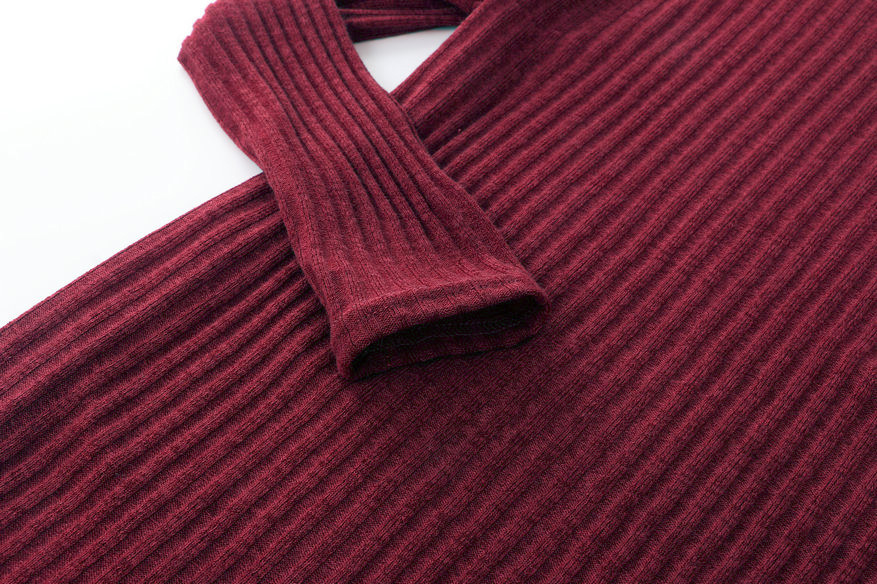 Turtleneck Long knitted pullover sweater, Women's Jumper, Casual Sweater 49