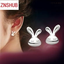 New Fashion High Quality 925 Sterling Silver Earrings Lovely Wild Rabbits Earrings Wholesale Jewelry Manufacturers