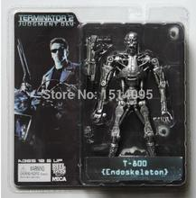 "7"" 18CM NECA Terminator 2 Judgment Day T-800 Endoskeleton PVC Action Figure Robot Toys Model Toy TT002(China)"