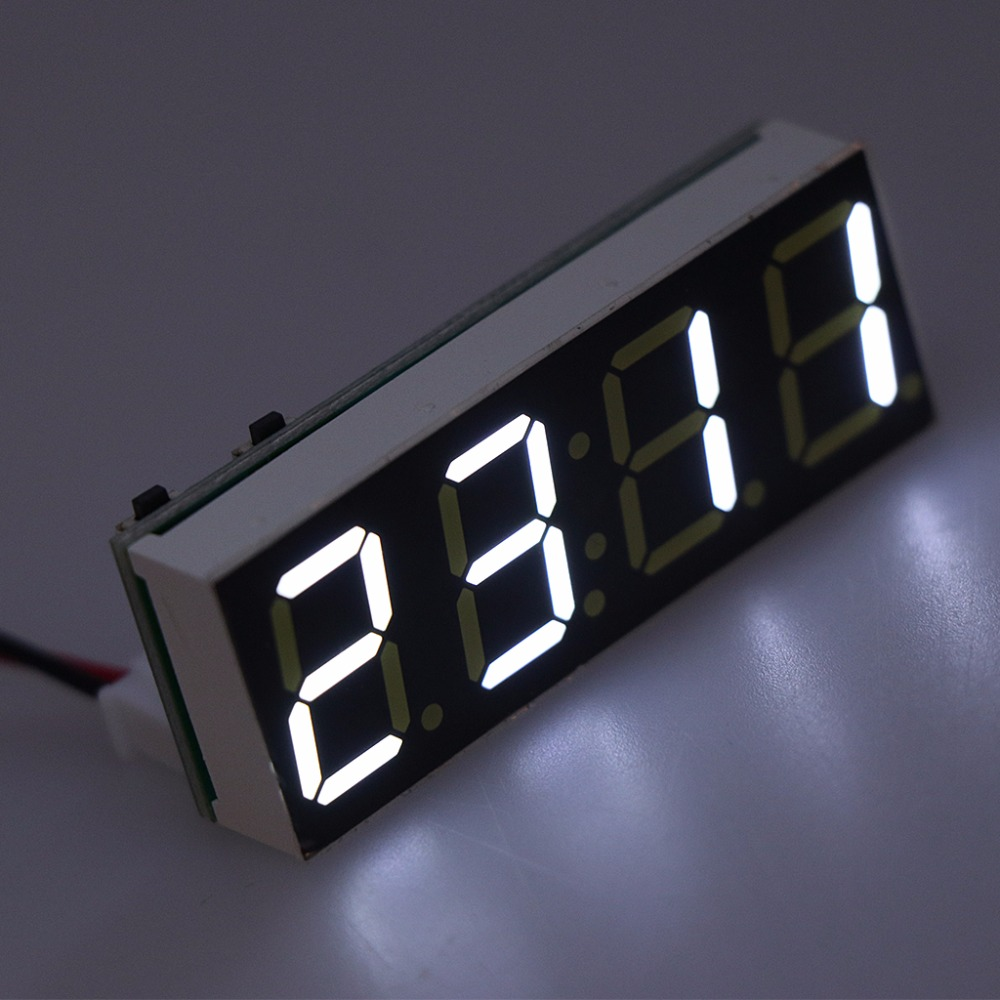 12v 5 24v Electronic Voltmeter Thermometer Clock For Car Auto Led Voltmeters 1pc Module 1aa800110 0