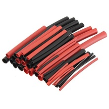 42pcs 6 Sizes Ratio 2:1 Red Black Polyolefin H-type Heat Shrink Tube Sleeve Sleeving Cable Wire Kit Power Tool Accessories(China)