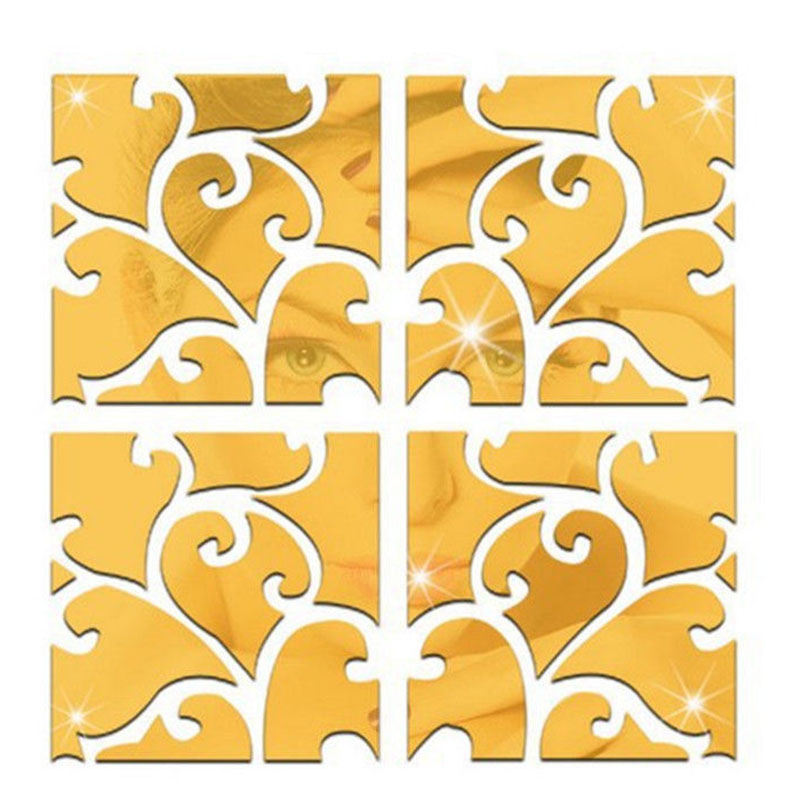 Decorative mirror stickers