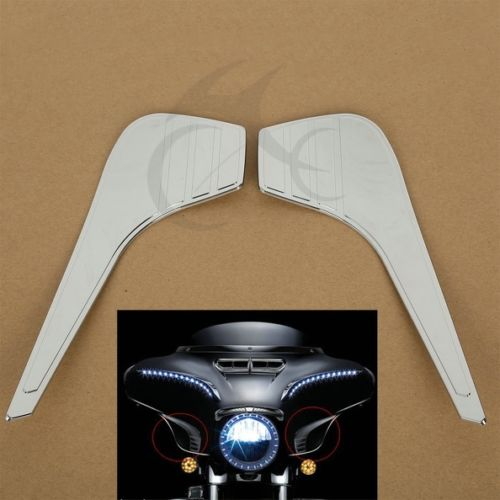 ABS Chrome Glove Box Accents Trims For Honda GL1800 GL1800P GL1800A Gold Wing Premium Audio 2001-2010<br>