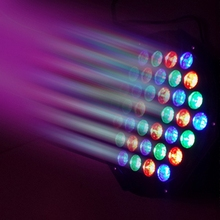 Free shipping 36 LED Stage Light  RGB Par Light DMX512 Master Slave LED Flat DJ Equipment Controller Discos KTV Music Party use