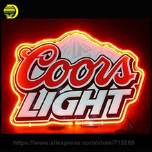 Neon Signs Coors Light 17x14 Handmade Glass Tube Board Neon Light Sign Room Recreation Decorate Super Bright Commercial Display(China)