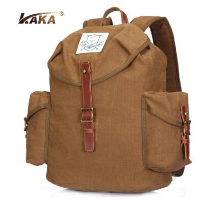 Brand KAKA Men Canvas Backpack Waterproof Mens Back Pack 15.6 Inch Laptop Mochila High Quality Designer Backpacks Male Backpack<br><br>Aliexpress