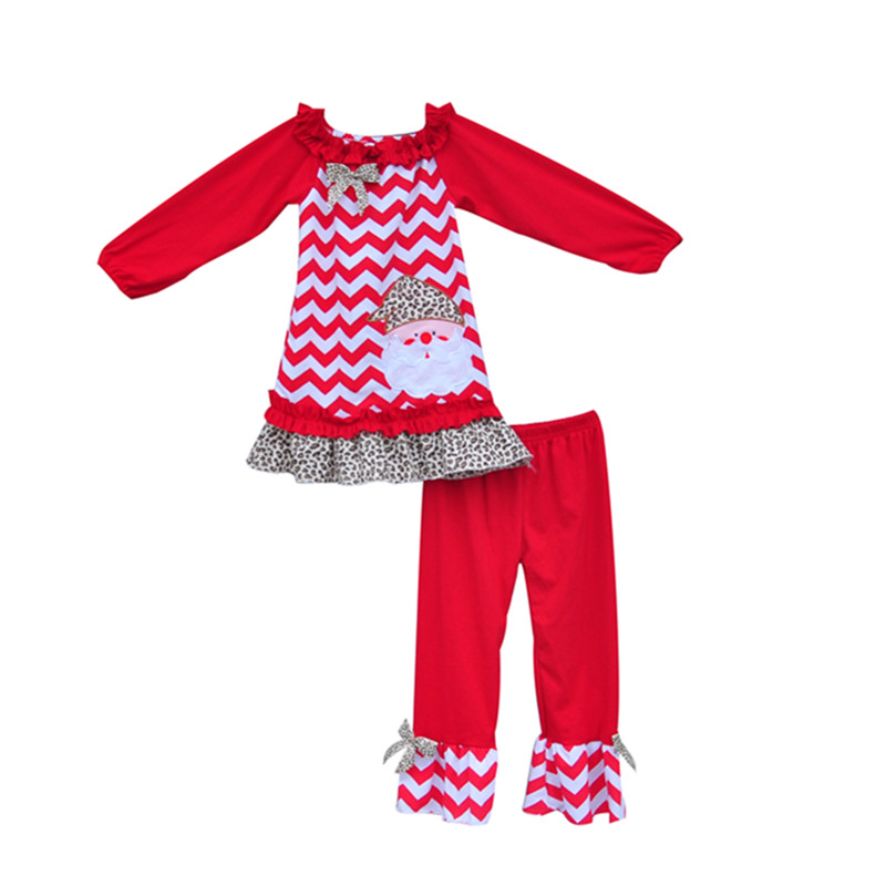 Fashion Winter Toddler Girl Clothing Set Christmas Kids Costume Ruffle Pants Santa Embroidery Lovely Baby Outfits Clothes C017<br><br>Aliexpress