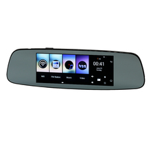 Udricare 7 inch 4G SIM Card GPS Navigation Android 5.1 WiFi Bluetooth Phone DVR 1G RAM 16GB GPS Rear View Dual Camera Mirror DVR(China)