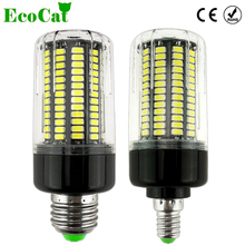 ECO CAT 2017 NEW E27 E14 No Flicker LED Lamp bulb Smart IC AC220V 110v Corn Light 5736 SMD 12W 15W Lampada Led Spotlight(China)