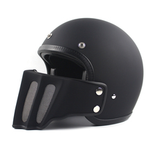 tt&co open face vintage motorcycle helmet scooter retro moto helmets with detachable mouth harley cruise style M L XL XXL