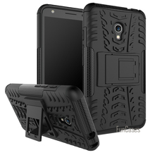 For Alcatel Pixi 4 (5.0inch) OT5045X (4G) Case Hybrid Kickstand Dazzle Rugged Rubber Armor PC+TPU Stand Function Shockproof Case(China)